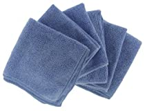 Shaxon Ultra Absorbent Microfiber Cleaning Cloths, 6 Pack, Blue, 12 x 12 Inches (SHX-MFW6-B )