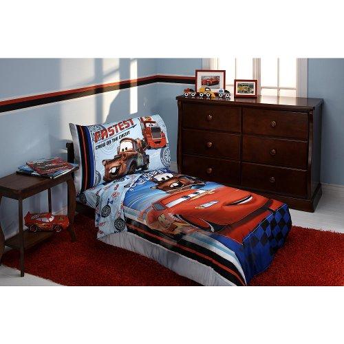 Disney-Pixar-Cars-4-Piece-Toddler-Bedding-Set-Fastest-Cars