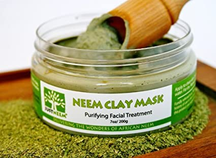 neem face clay mask for acne and sensitive skin