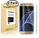 Galaxy S7 Edge Screen Protector [Full Coverage] ,iVoler [2-Pack] [3D Full Curved Edge] [No Bubble] [Ultra Clear] Premium PET Film Screen Protector for Samsung Galaxy S7 Edge, LIFETIME WARRANTY