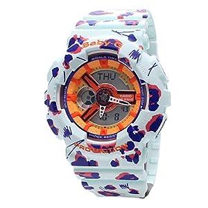 Casio Ladies Baby-G Flower Leopard Analog-Digital Casual Quartz Watch NWT BA-110FL-3A