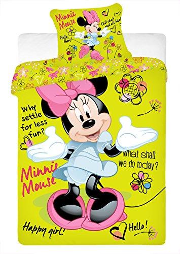 Copripiumino Minnie Mouse Disney 140x200 cm Federa 70x90 cm Singolo Cotone