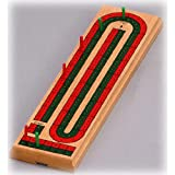 Two track coloured cribbage board