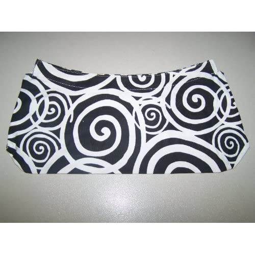 Amazon.com : Thirty ONE Fitted Purse Skirt Black and White Spiral