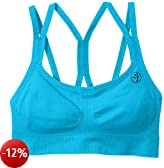 Zumba Fitness, Reggiseno sportivo Donna, Blu (Bangin Blue), L