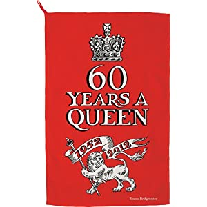 Emma Bridgewater Diamond Jubilee Queen Elizabeth II Dish Cloth (60 Years a Queen)
