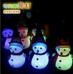 Decorative Buckets: CHRISTMAS GIFTS : COLOR CHANGING LED SNOWMAN HANGING/GIFT :CHRISTMAS DECORATIONS:XMAS TREE DECORATIONS