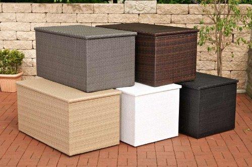 CLP Polyrattan Auflagen-Box, Rattan-Box für Kissen & Auflagen, bis zu 5 Farben + 3 Größe wählbar M = 235 Liter, braun-meliert günstig bestellen