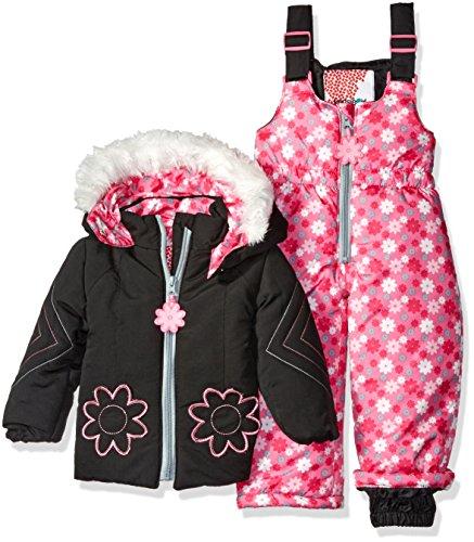 kensie-baby-girls-mountain-bloom-2-piece-snowsuit-black-18-months