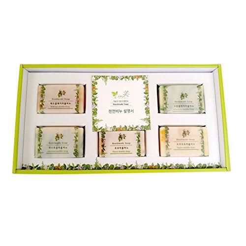 nuya-house-natural-marble-natural-beauty-handmade-soap-set-5pcs