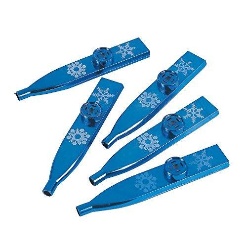 Metallic Snowflake Kazoos - 24 Pcs. - Christmas Party
