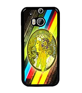 PrintDhaba Abstract Design D-5624 Back Case Cover for HTC ONE M8 (Multi-Coloured)