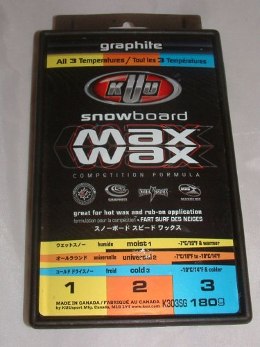 snowboard wax graphite! all 3 temp! 180 gram KUU Canada