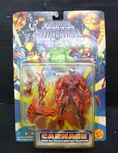 Marvel Universe Carnage with Snap-on Shape Shifter Weapons action figure (Marvel Universe Carnage compare prices)