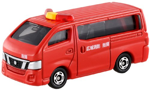 Takara Tomy Tomica No.27 Nissan NV350 Caravan Fire Chief Car - 1