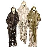 3ft Halloween Monster Prisoner Ghost Skeleton Chains Hanging Party Decoration