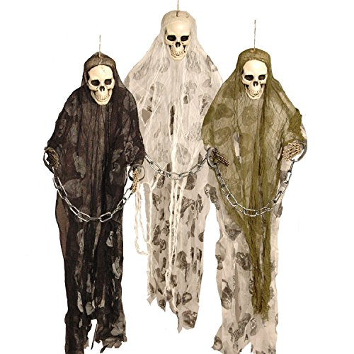 3ftmonster Prisoner Ghost Skeleton Chains Hanging Party Decoration By Halloween