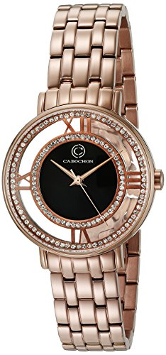 Cabochon Women's 'Carnaval' Quartz Stainless Steel Casual Watch (Model: CABOCHON-80288-RG-01)