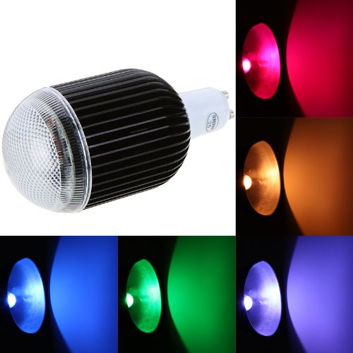 Docooler Isunroad 10W 650Lm Led Rgb Light 2 Million Color Changing Voice Music Control High Power Energy Saving Bulb Lamp With Ir Remote 110-240V (Gu10)