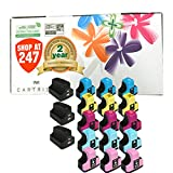Shop At 247 ® Compatible Ink Cartridge Replacement for HP 02 (3 Black, 3 Cyan, 3 Yellow, 3 Magenta, 3 Light Cyan, 3 Light Magenta, 18-Pack)