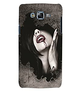 ColourCraft Dracula Girl Design Back Case Cover for SAMSUNG GALAXY J5