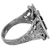 Egyptian Jewelry Silver Ankh of Life Filigree Ring