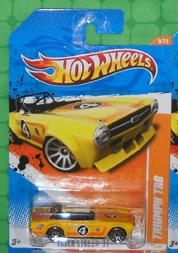 2011 Hot Wheels (70/244) - Track Stars '11 (5/15) - Triumph TR6 (Yellow) - 1