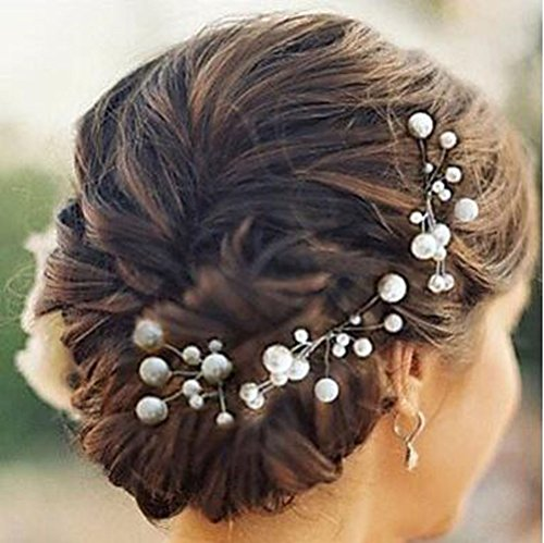 Aukmla Bridal Wedding Hair Pins, Accessories for Women and Girls (Pack of 5)