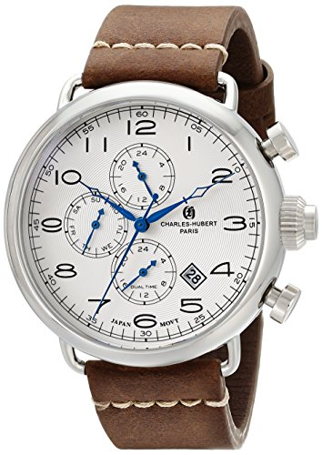 Charles-Hubert, Paris Men'S 3958-W Premium Collection Analog Display Japanese Quartz Brown Watch