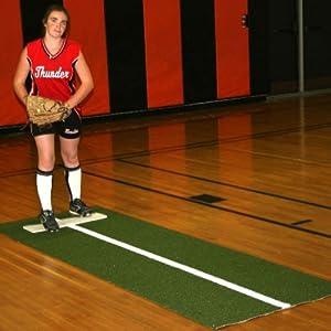 Softball Pitching Mat w Power Line - Softball by Pro-mounts