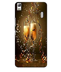 EU4IA Cheers Pattern MATTE FINISH 3D Back Cover Case For Lenovo A 7000 - D120