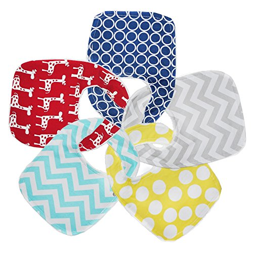 3-Layer Waterproof Drool Bibs with Snaps by Regaroo