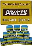 Pioneer Tournament Billiard Cue Tip Chalk Green Gross 144