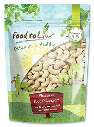 Food To Live Raw Cashew Nuts (Whole, Size W-240, Unsalted, Bulk) (8 Ounces) (Thai Lime Chili Cashews compare prices)
