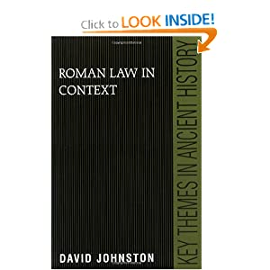 Roman Law in Context David Johnston