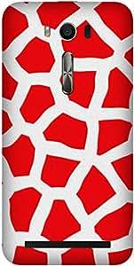 Red Animal Print Printed Back Cover Case For Asus ZENFONE 2 LASER ZE500KL