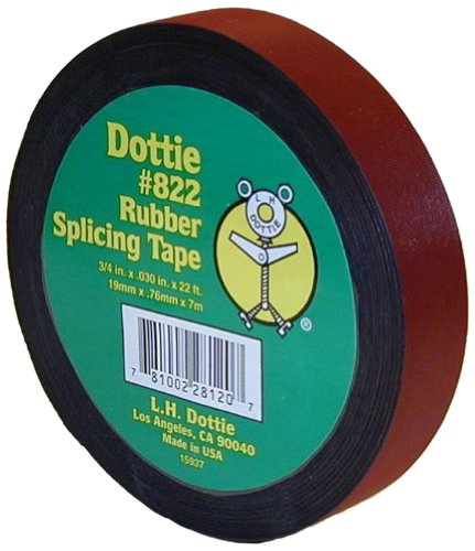 L.H. Dottie 822 Rubber Tape, 3/4-Inch Width by 22-Feet Length by 30 Mil Thickness, 10-Pack