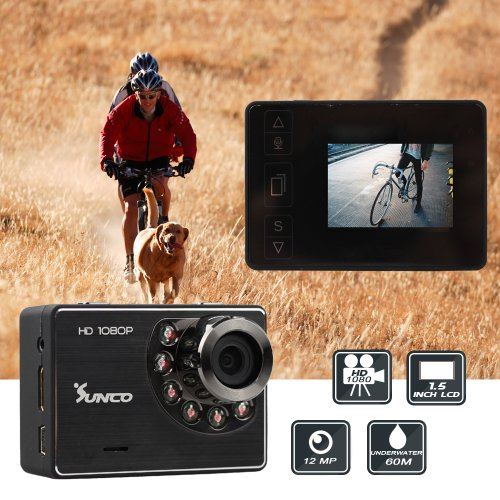 Sunco® Mouse Over Image To Zoom Details About Hd 1080P 1.5 Inch Lcd 60M Waterproof Diving Ski Sport Action Camcorder Camera Dv (Black)