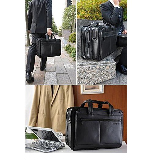 Samsonite(サムソナイト) LEATHER BUSINESS CASES エクスパンダブルビジネスバッグ