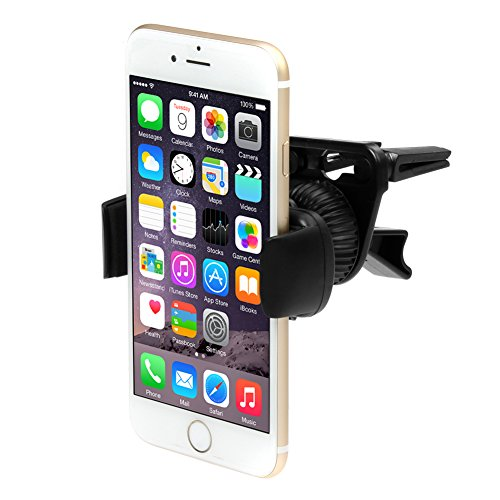 iKross Air Vent Car Vehicle Mount Holder for iPhone 6 / 6 Plus / 5 / 5S, Samsung Galaxy S6, S6 Edge, S5, Galaxy Note 4, Galaxy Alpha, LG G3 and Other Cell Phone, Mega Smartphone up to 6inch Screen