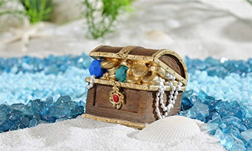 Giftcraft Beach Fairy Garden Treasure Chest Figurine from Under the Sea Collection