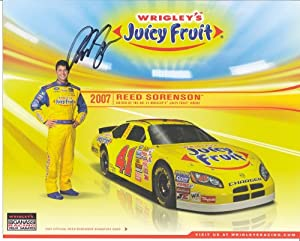 Buy 2007 Autographed Reed Sorenson #41 Juicy Fruit NASCAR Hero Driver Card