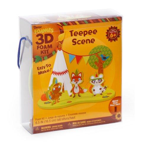 Foamies 3-D Foam Kit - Teepee Scene - 6.5 Inches - Makes 1