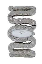 Roberto Cavalli Cleopatra - Stainless Steel Snake Cuff Bracelet Watch
