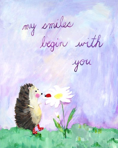Cici Art Factory Wall Art, My Smiles Begin with You, Small - 1