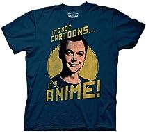 The Big Bang Theory Anime Navy Adult Tee