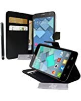 Etui Housse Luxe Stand et Portefeuille pour Alcatel One Touch idol S / Bouygues Telecom BS472 / Ultym 4 + STYLET et 3 FILM OFFERT !