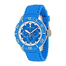 buy Nautica Multi-Function Light Blue Dial Resin Mens Watch N13650G
