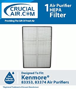 Crucial Air Kenmore HEPA Air Purifier Filter Fits Kenmore Air Purifier Models 83353 and 83374; Compare To Kenmore Part # 32-83374, 83353, 83 at Sears.com