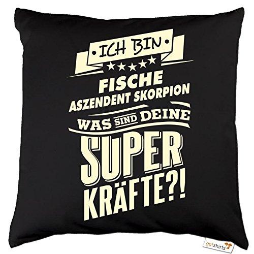 getshirts rahmenlos geschenke kissen superkr fte sternzeichen fische aszendent skorpion. Black Bedroom Furniture Sets. Home Design Ideas